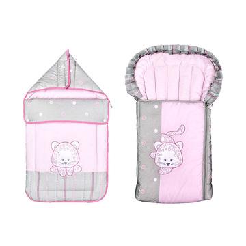 德国原装进口 Belily带兜帽睡袋-小狮子系列 婴儿春秋保暖包被