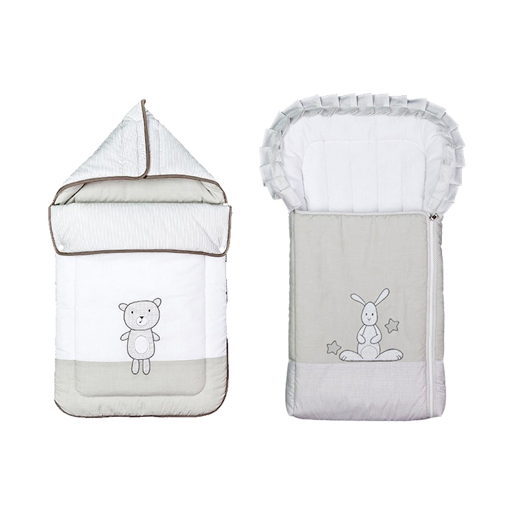 德国原装进口 Belily带兜帽睡袋-泰迪熊系列 婴儿春秋保暖包被