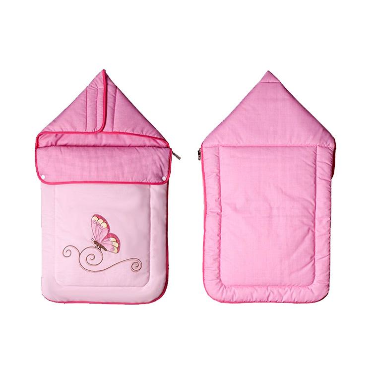 德国原装进口 Belily带兜帽睡袋-蝴蝶系列 婴儿春秋保暖包被