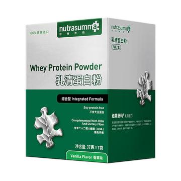 【便携袋装蛋白粉】美国进口纽特舒玛乳清蛋白粉营养综合型(香草味) 37g*7袋成人中老年术后营养蛋白