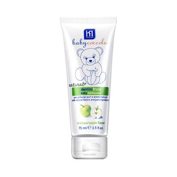 【防蛀固齿 清洁细菌】BABY COCCOLE宝贝可可丽天然果胶儿童牙膏 - 苹果味75ml