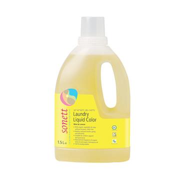 【德国原装进口】Sonett索奈特薄荷柠檬洗衣液彩色衣物专用 1.5L 温和不伤手