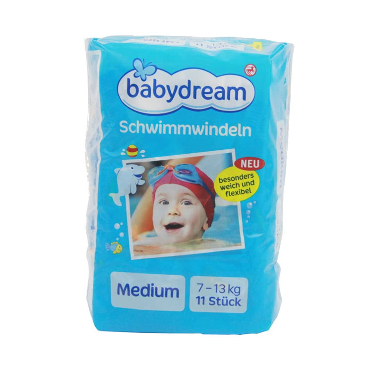 【外層防水】德國原裝進口 Babydream游泳拉拉褲小包裝中號M 11片 適用7-13kg寶寶