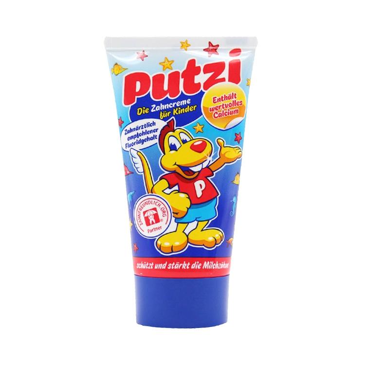 【加钙固齿】德国原装进口 Putzi普奇儿童牙膏原味加钙50mL