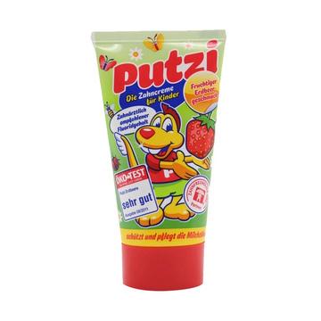 德国原装进口 Putzi普奇儿童牙膏草莓味50mL