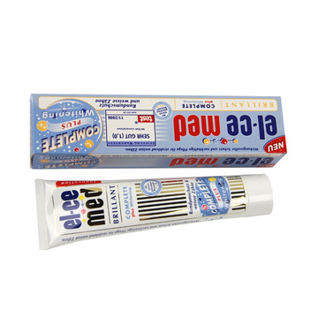 德国原装进口el-cemed全效美白牙膏预防龋齿清新口气护齿