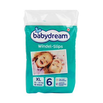 德国原装进口 Babydream拉拉裤中包装6号XL18片