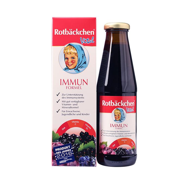 【双维补锌 温和不刺激】德国rotbackchen小红脸双维锌营养液 450ml