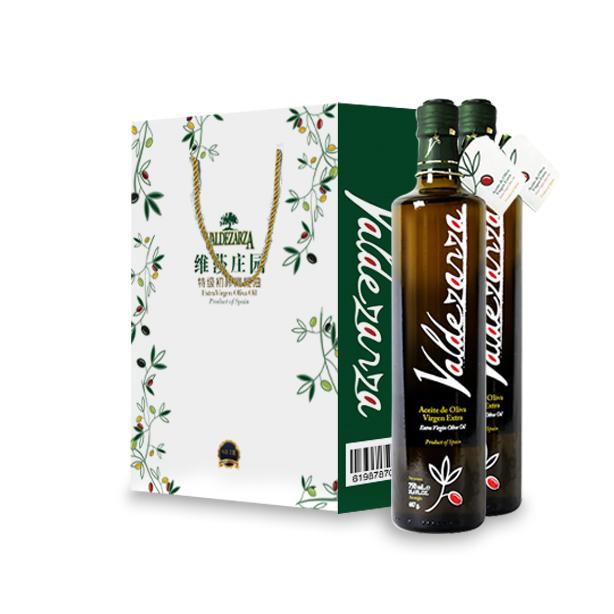 【中秋特惠:买2套送1套原品】西班牙原装进口 维莎庄园特级 无添加初榨橄榄油750ml*2瓶