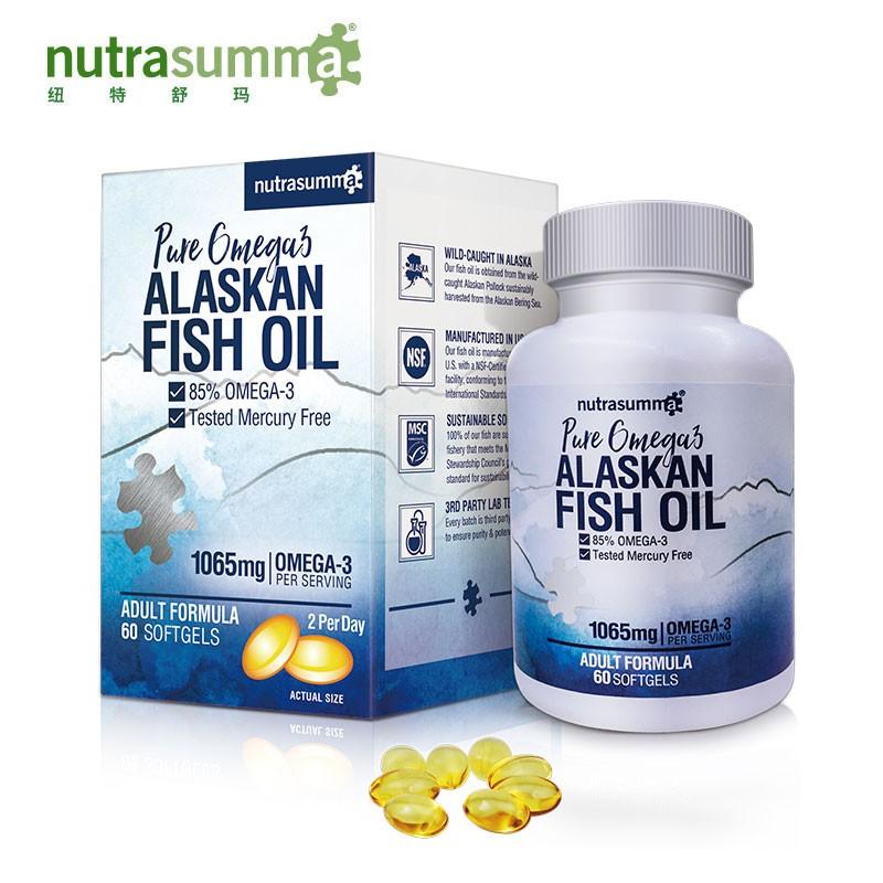 纽特舒玛成人阿拉斯加深海鱼油软胶囊 欧米伽-3 120粒/瓶