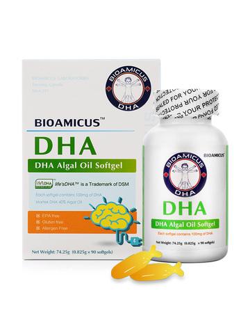美国进口百适滴海藻油DHA胶囊90粒
