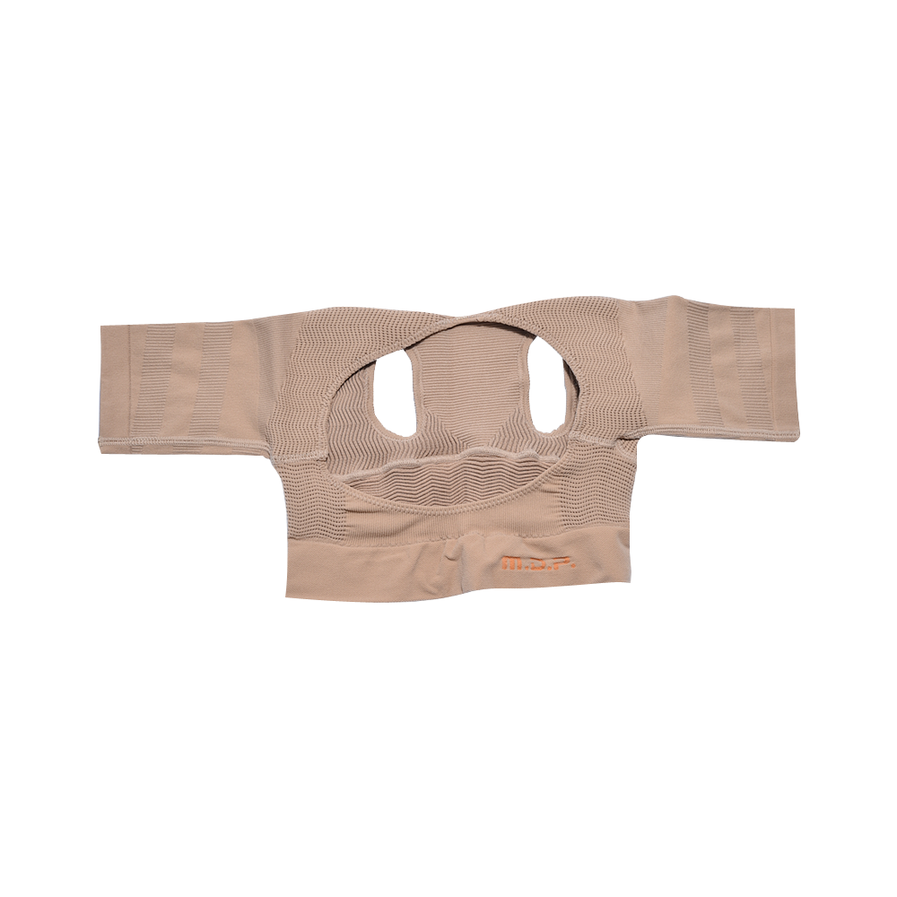 日本 MEIDAI 胜野式肩乐塑身衣-米色L-LL 1件装