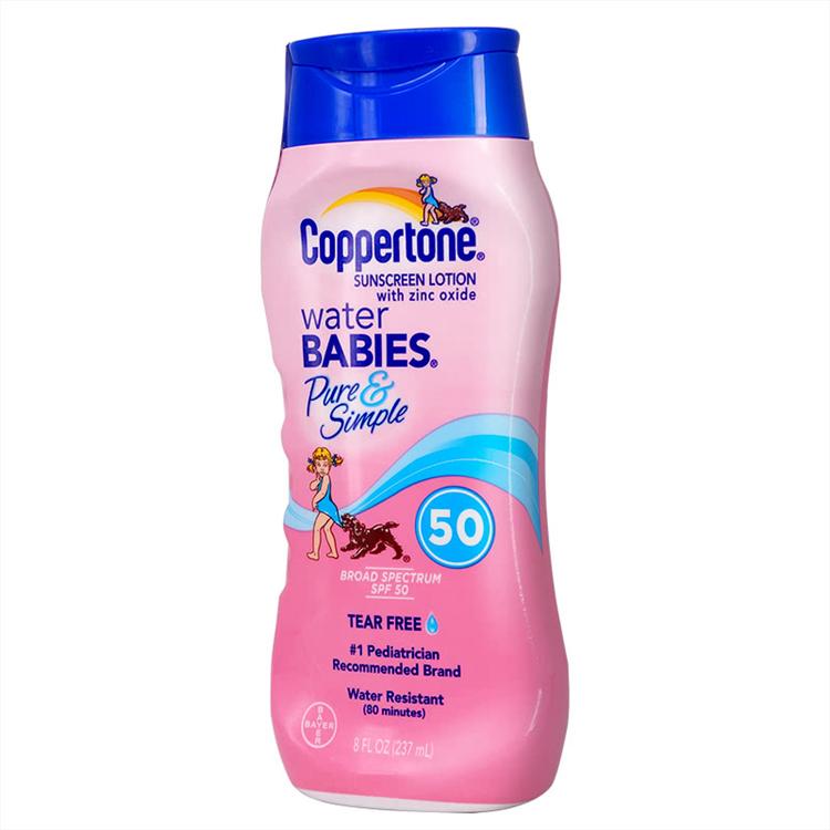 【2瓶】确美同®水宝宝纯净防晒乳 237ml SPF50 PA+++温和配方