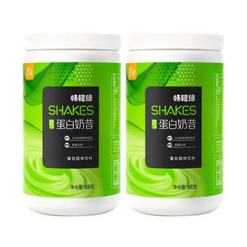 2瓶芊动蛋白奶昔代餐粉 低0脂食品223种营养饱腹6h膳食纤维   青汁抹茶味