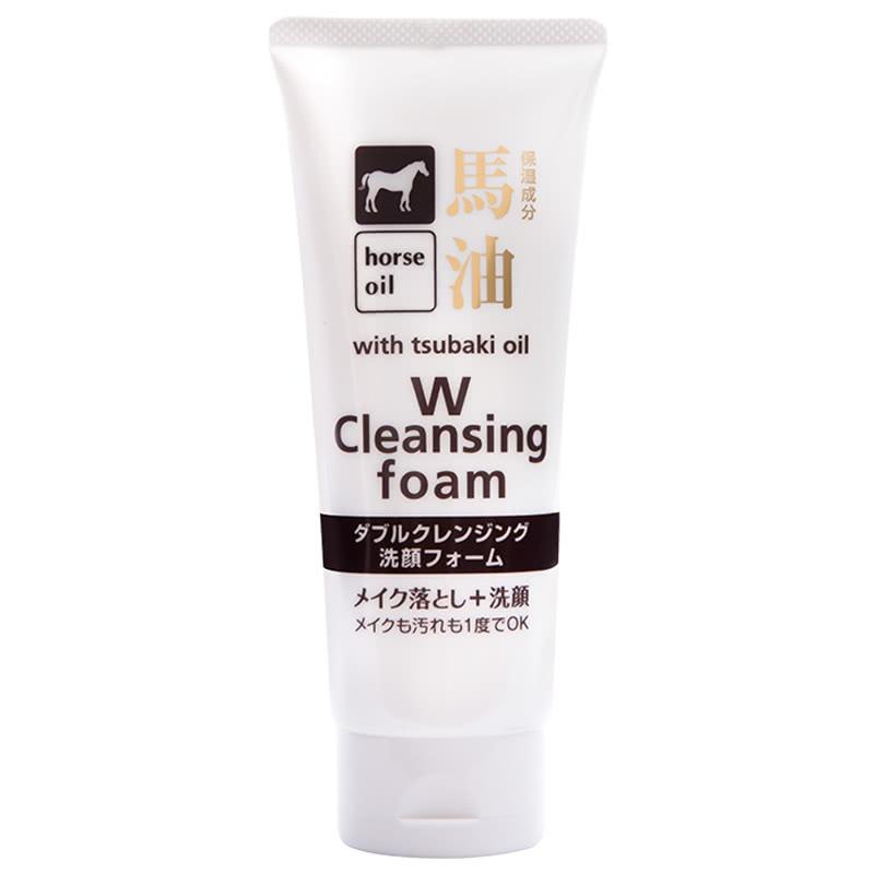 日本熊野油脂咖思美马油洗面奶130g 滋养保湿洁面乳深层清洁洗面奶