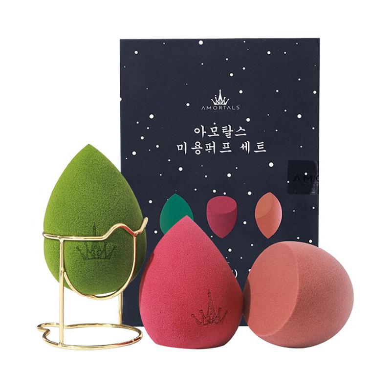 【张嘉倪同款】AMORTALS尔木萄 星空美妆蛋套盒 3只+蛋架/盒 干湿两用海绵美妆蛋