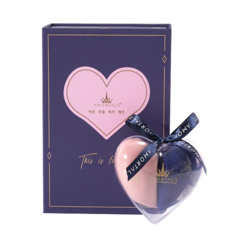 【质地细腻柔软】AMORTALS尔木萄 心悦美妆蛋套盒 2只+蛋架/盒 蓝粉