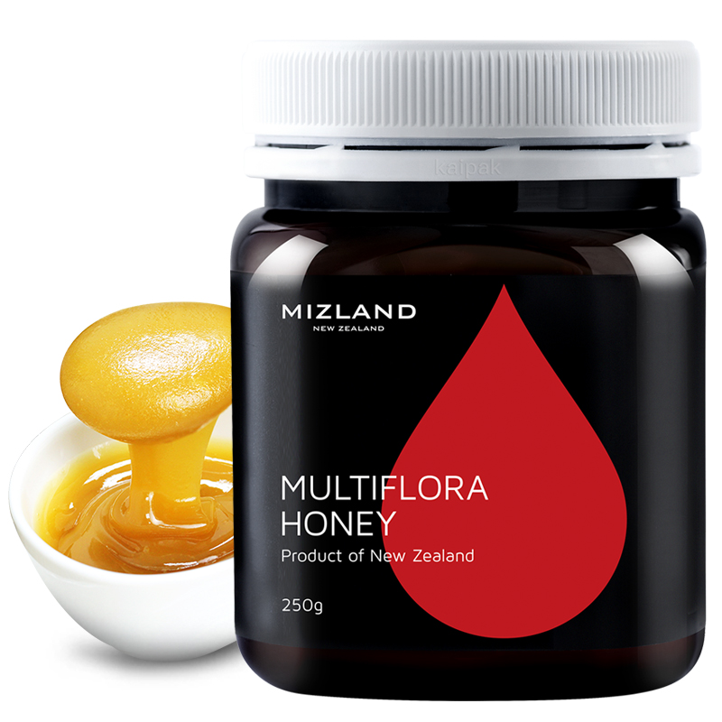 【百花蜂蜜】mizland蜜滋兰 新西兰原装进口 纯正天然蜂蜜 多花种百花蜂蜜250g