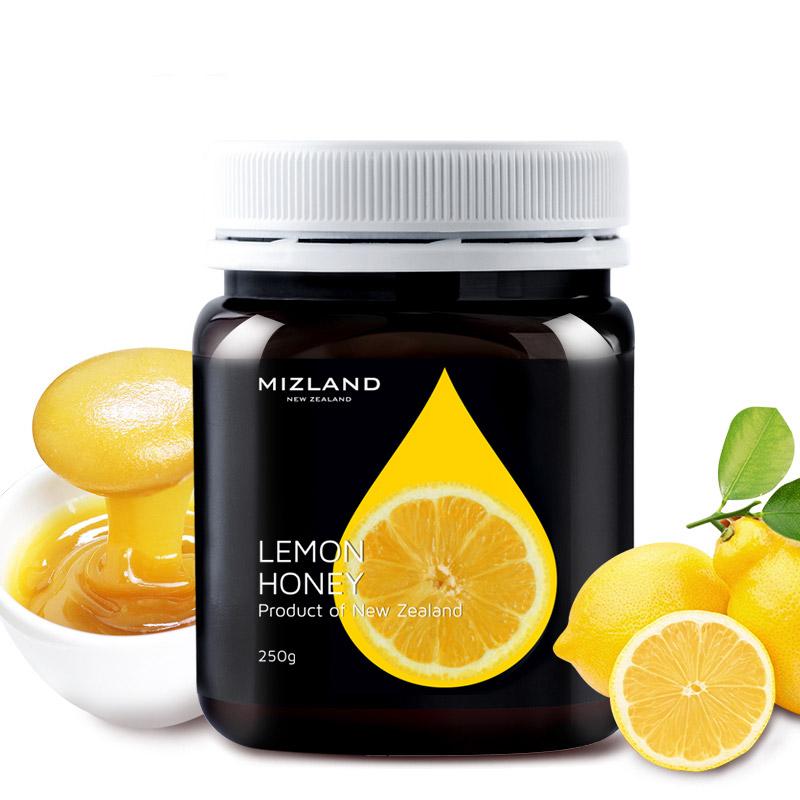 【柠檬蜂蜜】MIZLAND蜜滋兰新西兰原装进口柠檬蜂蜜夏日风味饮品小瓶包装250g
