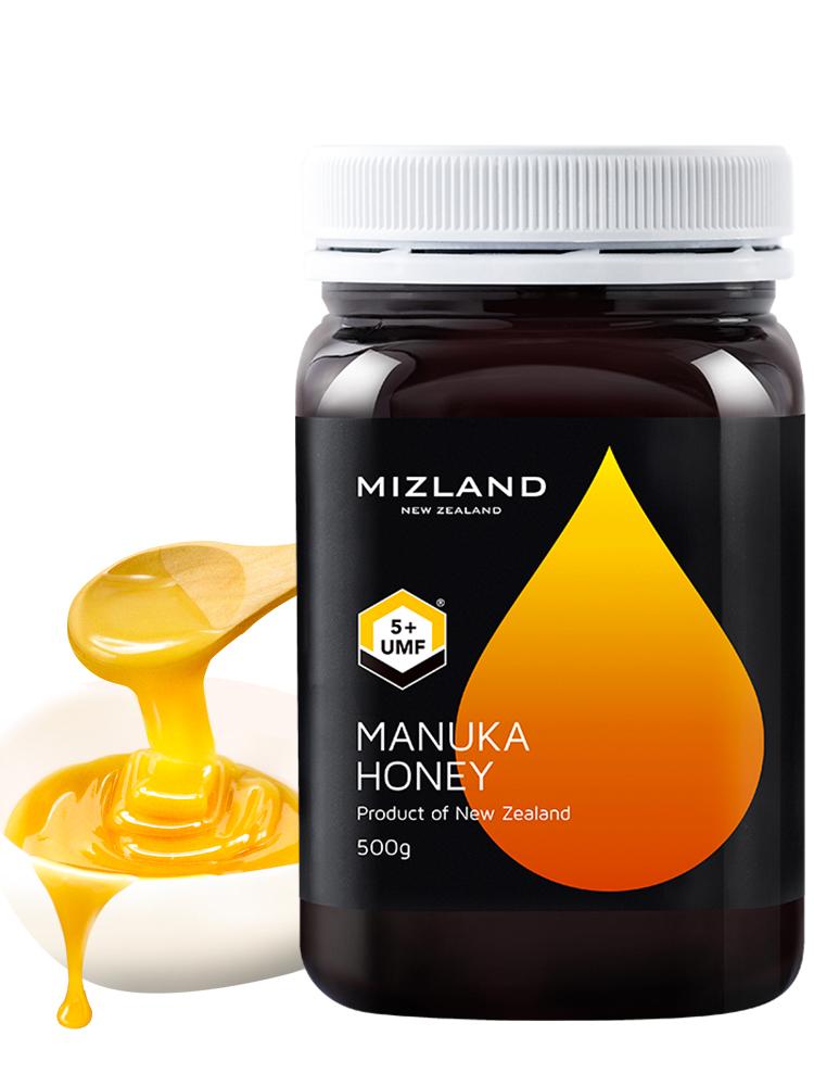 【麦卢卡蜂蜜5+】mizland蜜滋兰 新西兰进口纯正天然农家自产manuka养胃honey500g