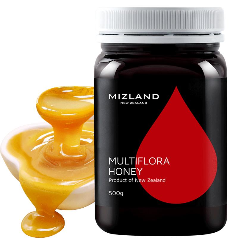 【百花蜂蜜 500g】mizland蜜滋兰 新西兰原装进口 纯正天然蜂蜜 多花种百花蜂蜜500g