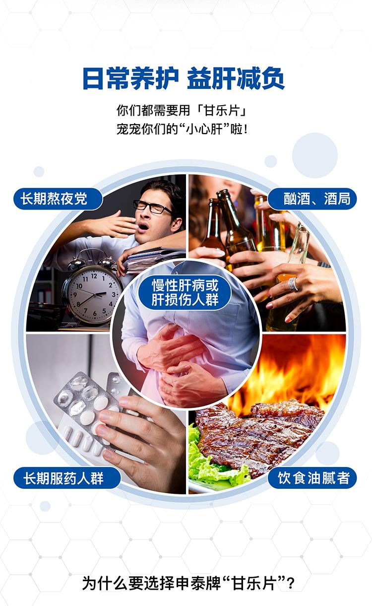 【限时买2赠1原品】申泰牌甘乐片 60片 辅助保护肝脏 调节血脂