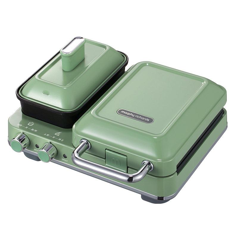 【王俊凯代言】英国摩飞多功能早餐机三明治轻食机小型家用华夫饼机吐司压烤机