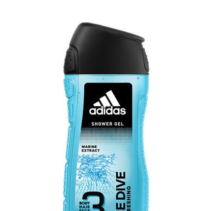 【品味透凉】阿迪达斯男士三效洁颜洗发水沐浴露400ml