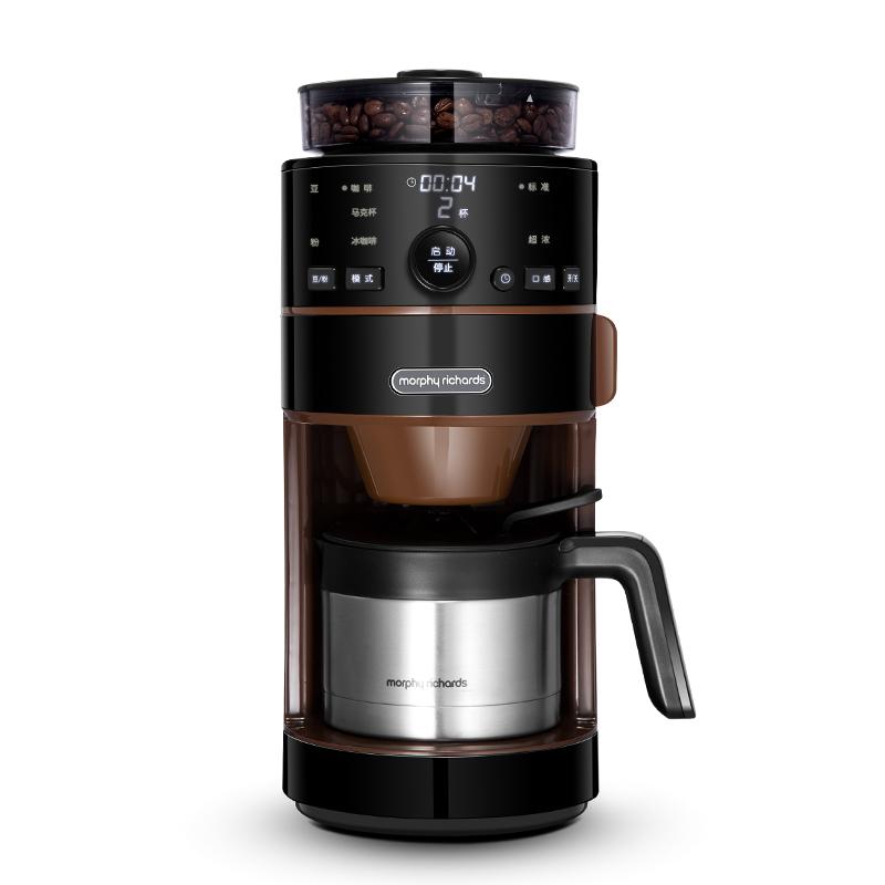 【一体咖啡机】摩飞MR1103美式研磨一体机全自动家商用煮咖啡壶现磨咖啡豆咖啡机