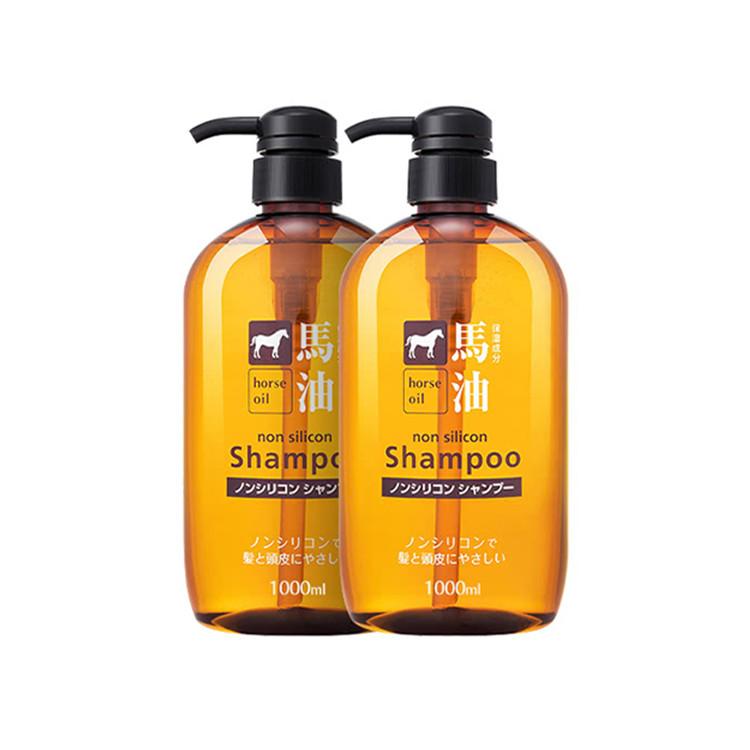 【2瓶装加赠酒精湿巾2盒】马油1000ml*2大包装咖思美日本熊野油脂马油弱酸性洗发液