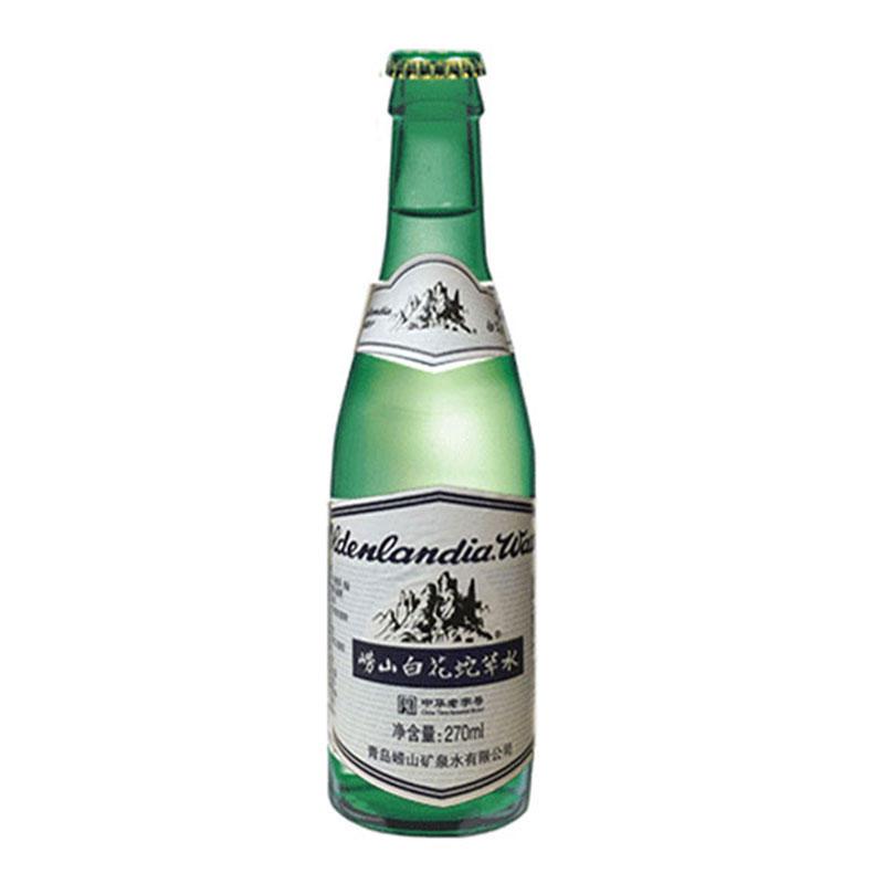 【綠瓶 嶗山白花蛇草水270ML*24瓶裝】 玻璃瓶裝
