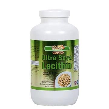 【血管清道夫】加拿大直邮GOLD VITAMINS金维素天然大豆卵磷脂软胶囊300粒