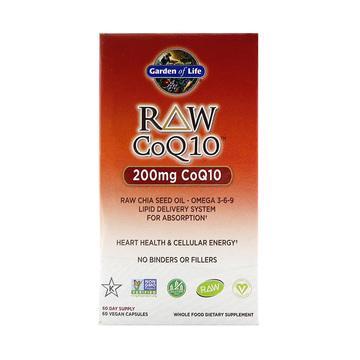 【心脏健康有活力】美国Garden of Life生命花园Raw辅酶Q10胶囊 60粒