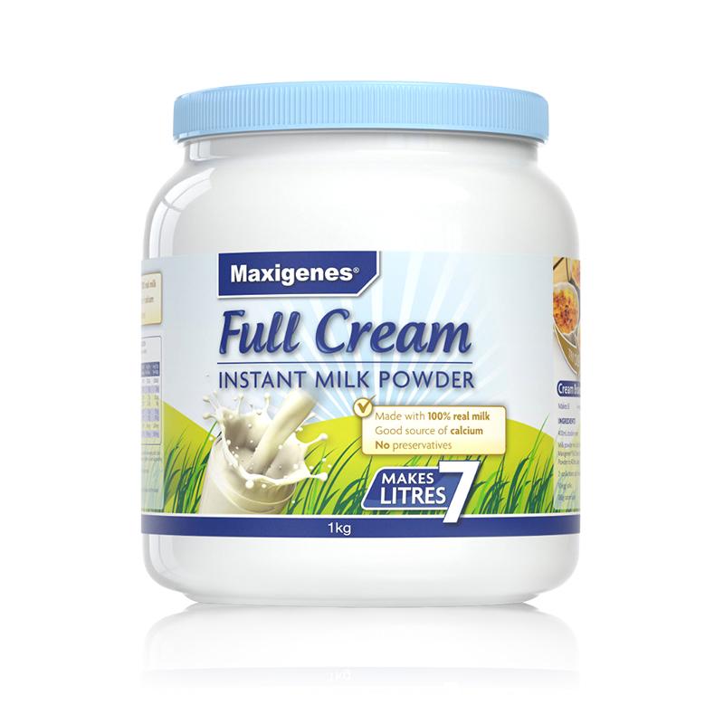 【全脂高钙奶粉】澳洲Maxigenes美可卓 高钙全脂奶粉 (蓝胖子) 1kg