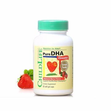 【助力宝宝智力发育】美国童年时光Childlife DHA软胶囊 90粒