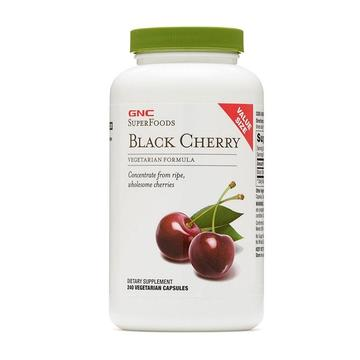 【降低尿酸 缓解痛风】美国GNC健安喜 黑樱桃精华胶囊240粒