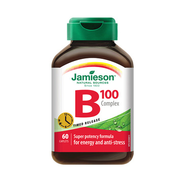 """【男人""""B""""需有】加拿大Jamieson健美生维生素B族复合片(缓释型) 60片"""