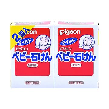 【日本进口】Pigeon 贝亲 婴幼儿宝宝香皂沐浴皂 90g*2块