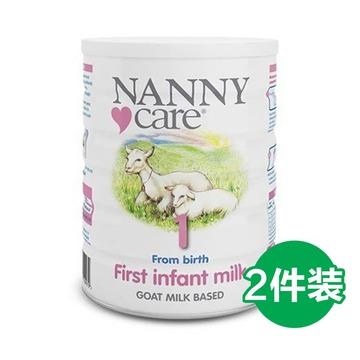 【接近母乳 不易过敏】英国Nanny Care 婴儿羊奶粉 1段 900g/罐*2罐 0-6个月