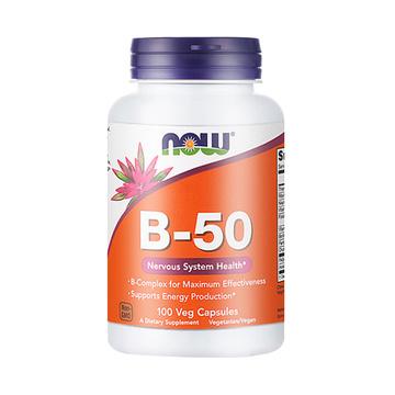 【舒缓压力,精力充沛】NOW 诺奥 复合维生素B族片 100粒/瓶
