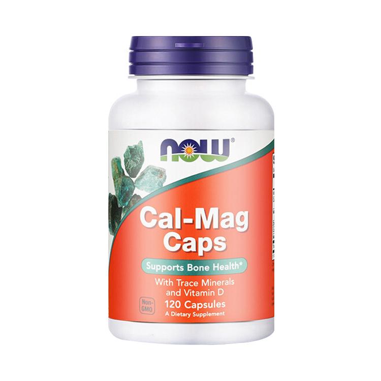 NOW 诺奥 钙镁胶囊 120粒/瓶 含微量矿物质和维生素D