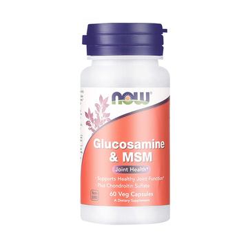 【三效合一 助力关节】NOW 诺奥 氨基葡萄糖二甲基砜胶囊 60粒/瓶 氨糖维骨力软骨素