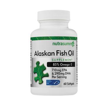 【辅助调节血脂血压】美国纽特舒玛Nutrasumma阿拉斯加深海鱼油60粒 高血压高血脂三高人群