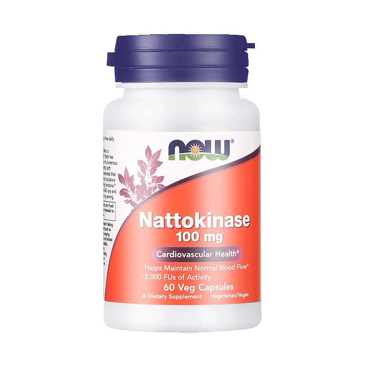 【疏通血管,降低血液粘度】NOW 诺奥 纳豆激酶溶栓胶囊 60粒/瓶