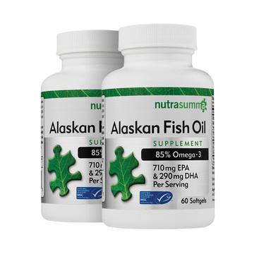 【79元2瓶】2月量原装进口纽特舒玛Nutrasumma阿拉斯加深海鱼油60粒 三高人群中老年