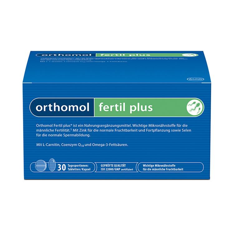 【男性备孕 提高精子活力】德国Orthomol Fertil plus奥适宝男性幸福番茄红素 30袋