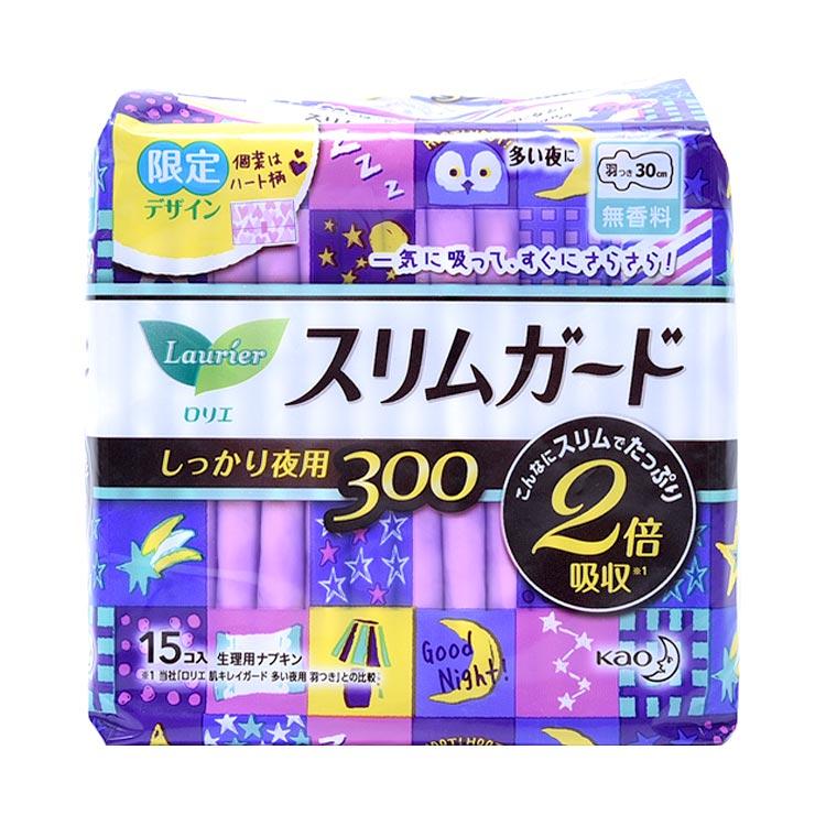 夜用轻薄超吸收 Laurier 乐而雅  瞬吸超薄夜用卫生巾 30CM*15片