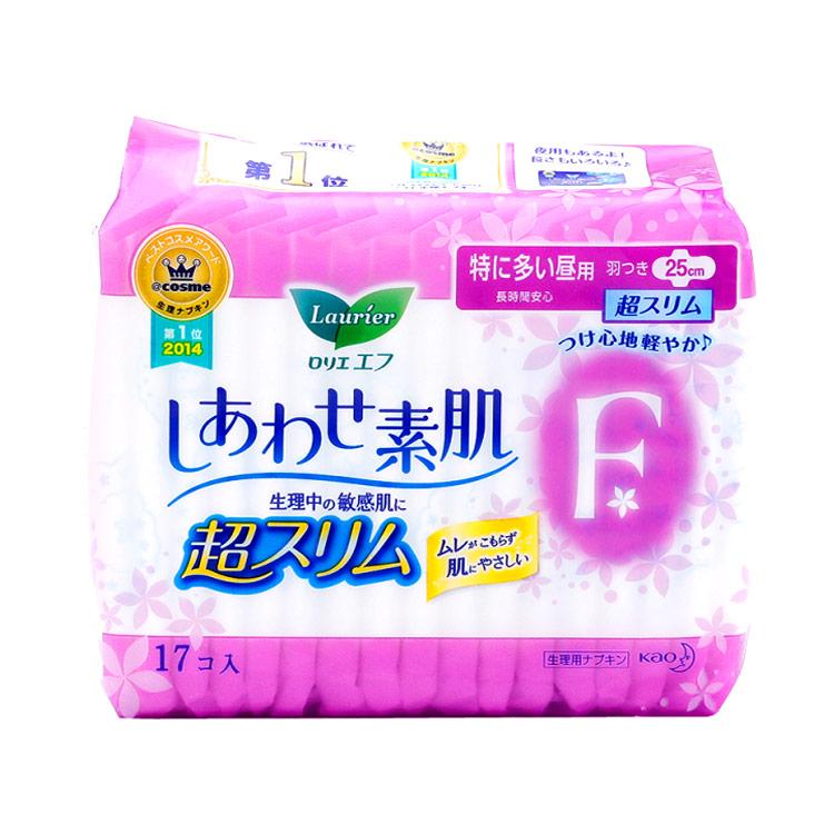 [瞬吸干爽日用]Laurier 乐而雅  瞬吸干爽F系列卫生巾25CM*17片