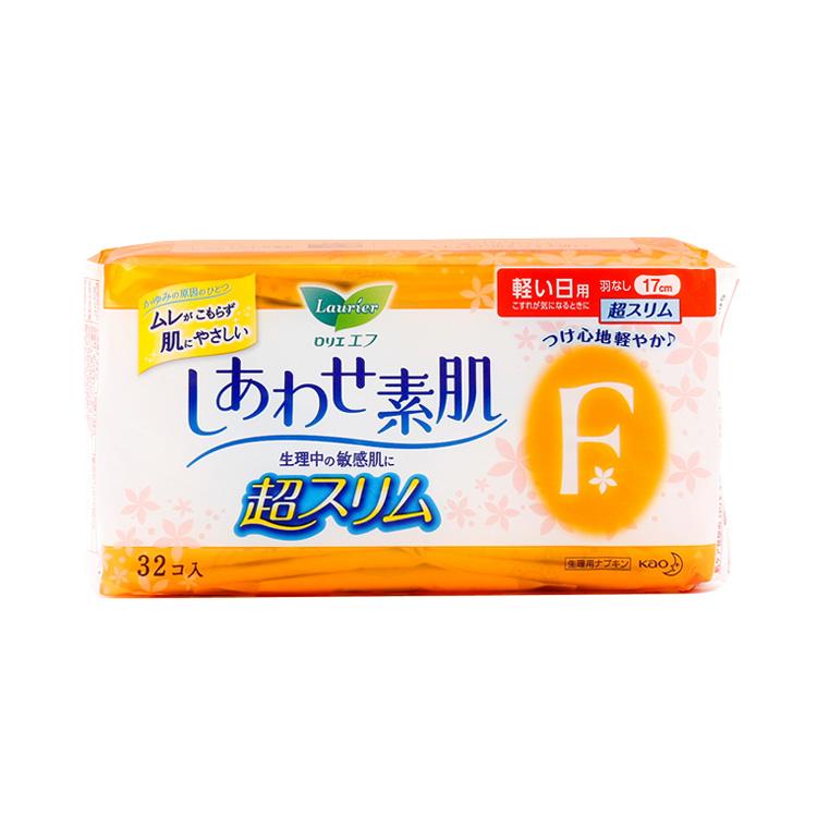 [超薄日用]LAURIER 乐而雅||F系列 超薄日用卫生巾护垫||17cm*32片