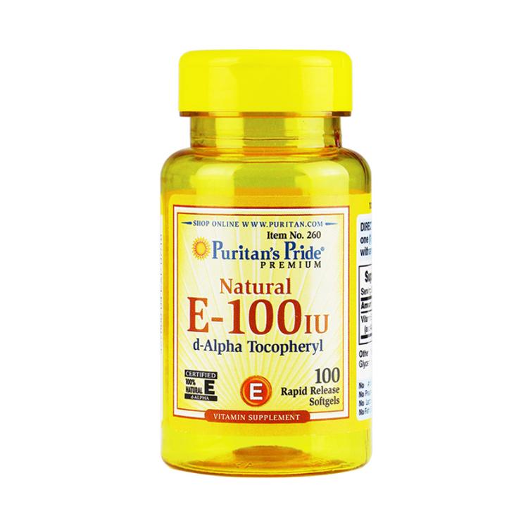 【美颜淡斑】Puritan's Pride 普丽普莱 天然维生素E软胶囊 100粒